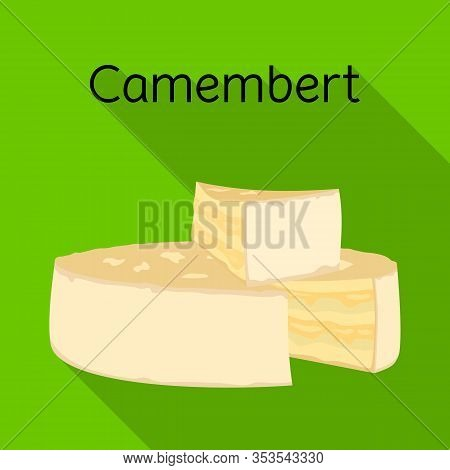 Isolated Object Of Cheese And Maasdam Logo. Web Element Of Cheese And Piece Stock Vector Illustratio