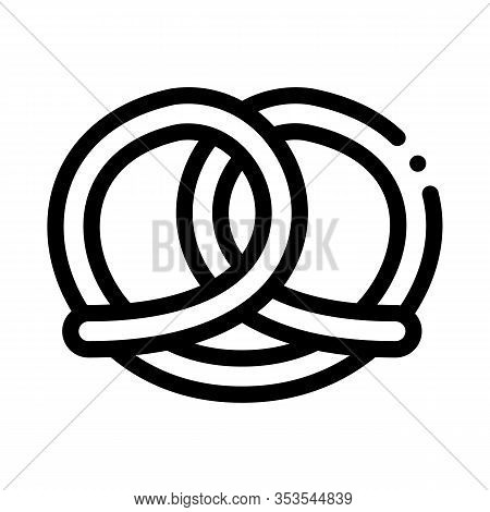 Bakery Pretzel Tasty Food Icon Thin Line Vector. Salty Or Sweet German Traditional Pretzel Delicious
