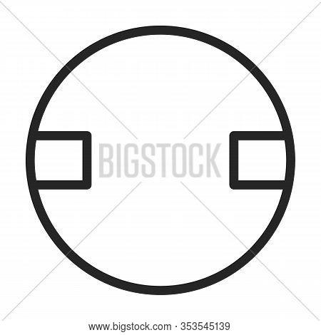 Rivet Bolt Vector Icon.outline Vector Icon Isolated On White Background Rivet Bolt.