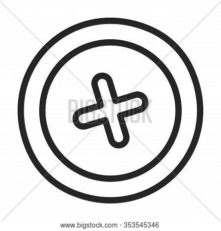 Rivet Nut Vector Icon.outline Vector Icon Isolated On White Background Rivet Nut.