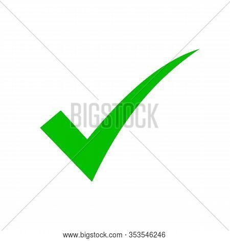 Check Mark Icon Vector Illustration Design Template Check Mark Icon. Green Check Mark Icon. Check Li