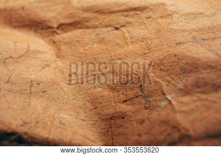 Brown Rough Vintage Paper. Abstract Background And Texture For Designers. Old Vintage Recycled Paper