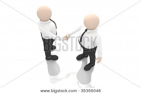 Office scenes (handshake)