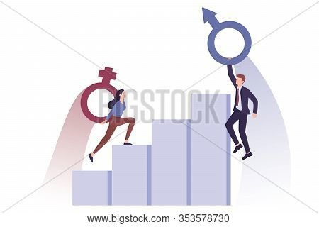 Recruitment And Business Sexism Concept. Unfairness And Career Problem