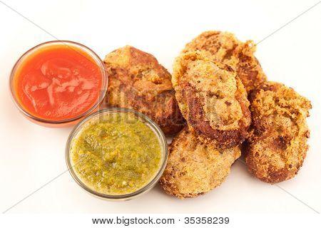 Chicken or potato cutlet