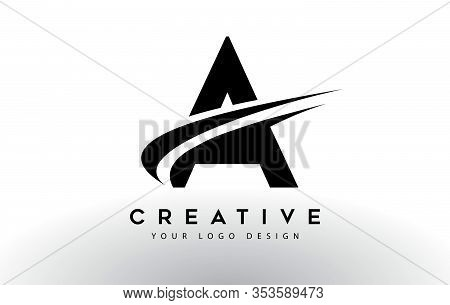A, Logo, Swoosh, Letter, Design, Creative, Typography, Logo, Corporate, Business, Concept, Vector, S