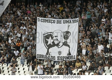 Rio, Brazil - March 01, 2020: Fans Flag In Match Between Botafogo And Boavista By The Carioca Champi