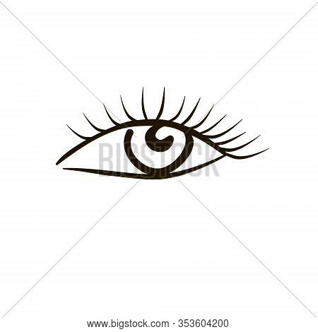 Eye On White Background. Woman Eye. The Eye Logo. Eyes Art. Human Eye