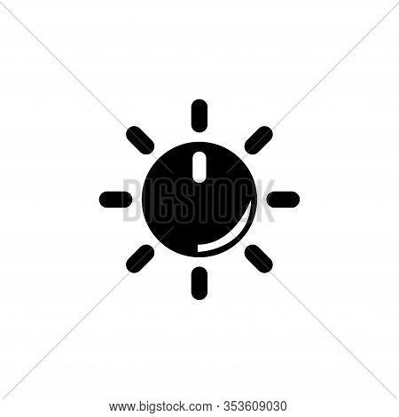Adjusting Volume, Regulator Tuner. Flat Vector Icon Illustration. Simple Black Symbol On White Backg
