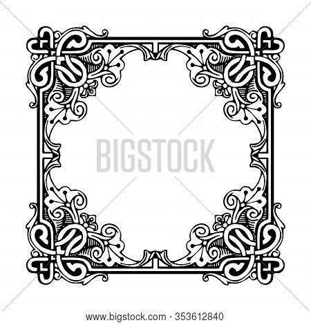 Vintage Ornament Pattern Frame, Border Ornament Pattern Frame, Engraving Ornament Pattern Frame, Orn