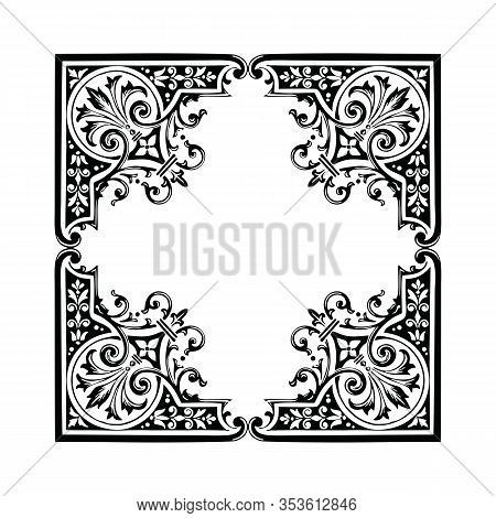 Engraving Ornament Pattern Frame, Border Ornament Pattern Frame, Engraving Ornament Pattern Frame, O
