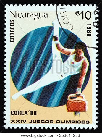 Nicaragua - Circa 1988: A Stamp Printed In Nicaragua From The