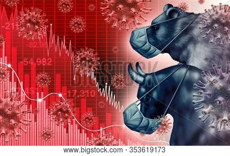 Global Economy Pandemic Fear And Economic Coronavirus Fear Or Virus Outbreak And Stock Market Fears