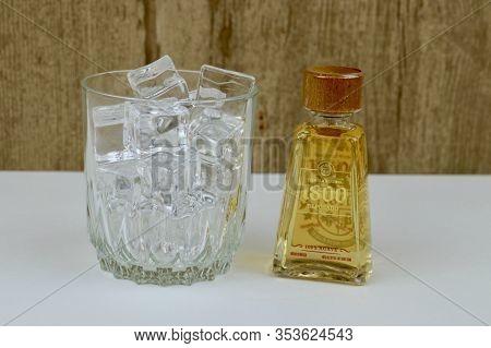 Spencer, Wisconsin, U.s.a. , March, 1, 2020   Bottle Of 1800 Reposado Tequila  1800 Reposado Is Popu