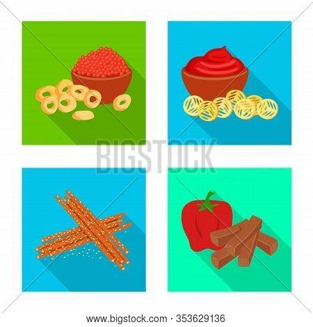 Vector Illustration Of Taste And Seasonin Symbol. Set Of Taste And Organic Vector Icon For Stock.