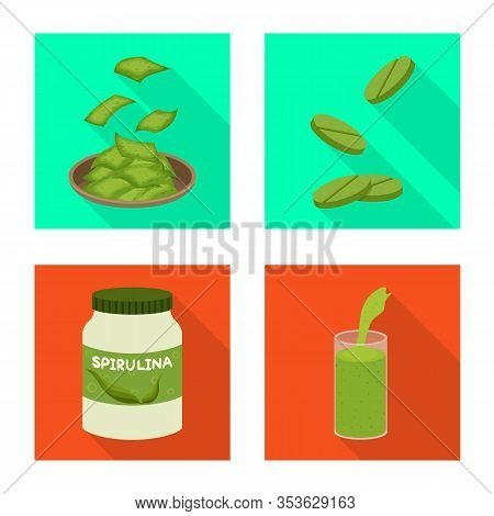 Vector Illustration Of Protein And Sea Logo. Collection Of Protein And Natural Stock Vector Illustra