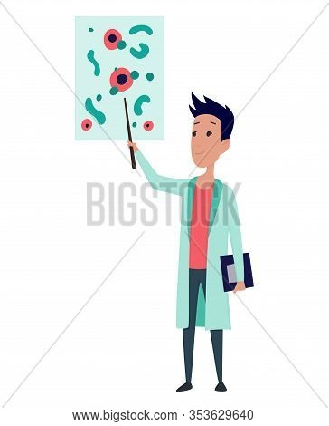 Young Scientists Characters In Laboratory. Doctor Research In A Laboratory Lab. Professor Teaching.