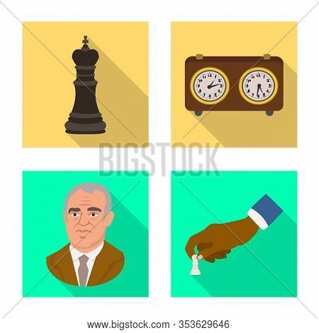 Vector Design Of Checkmate And Thin Symbol. Collection Of Checkmate And Target Stock Symbol For Web.