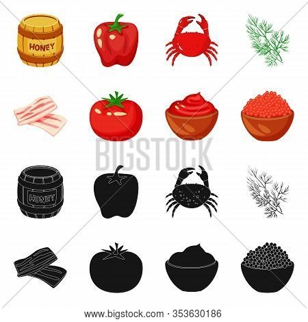 Isolated Object Of Taste And Product Icon. Collection Of Taste And Cooking Stock Vector Illustration