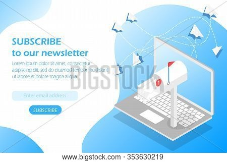 Mailbox In The Laptop, Subscribe To Our Newsletter.