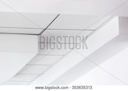 Multi-level Ceiling With Three-dimensional Protrusions And A Suspended Tiled Ceiling, Perspective On
