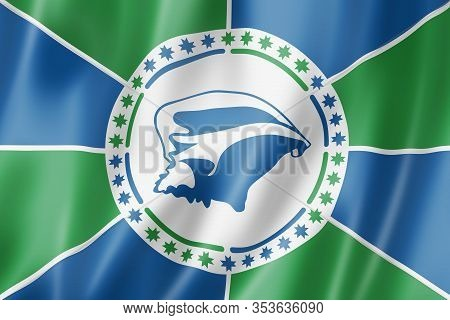 Martinique Collectivity Flag, Overseas Territories Of France. 3d Illustration