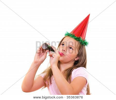 Beautiful Girl Celebrates Birthday.
