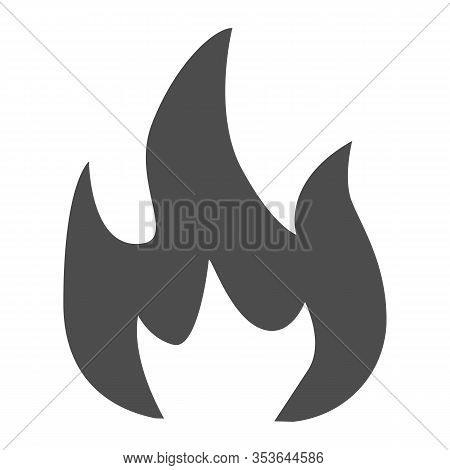 Highly Flammable Solid Icon. Attention Fire Warning Sign. Firefighter Vector Design Concept, Glyph S
