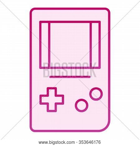 Tetris Flat Icon. Game Console Vector Illustration Isolated On White. Gaming Gradient Style Design,