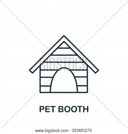 Pet Booth Icon From Home Animals Collection. Simple Line Element Pet Booth Symbol For Templates, Web