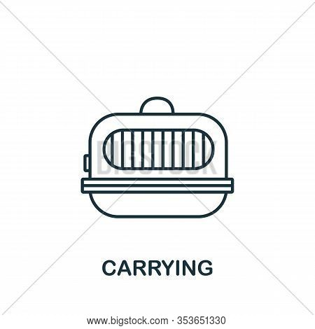 Carrying Icon From Home Animals Collection. Simple Line Element Carrying Symbol For Templates, Web D