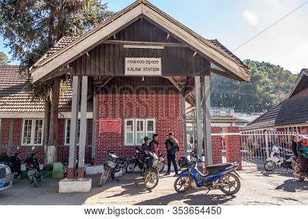 Kalaw, Myanmar - January 20, 2020: Kalaw Train Station In Kalaw Township In Taunggyi District, Shan