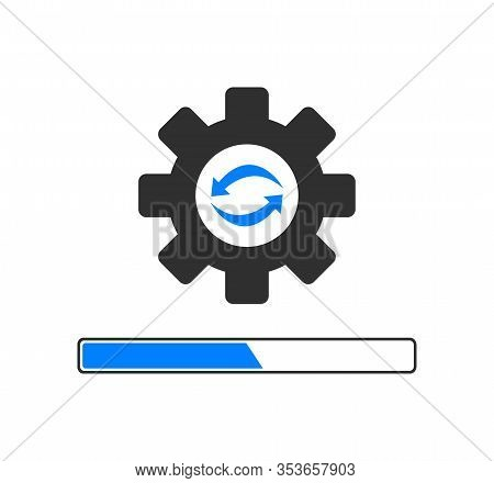 Update Application Progress Icon. Software Icon. Upgrade.