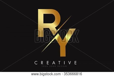 Ry, R, Y, Letter, Singular, Logo, Corporate, Business, Concept, Vector, Sign, Symbol, Template, Elem