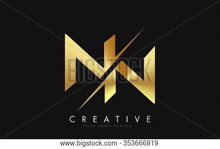 Nn, N, N, Letter, Singular, Logo, Corporate, Business, Concept, Vector, Sign, Symbol, Template, Elem