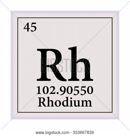 Rhodium Periodic Table Of The Elements Vector Illustration Eps 10