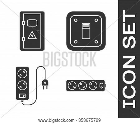 Set Electric Extension Cord, Electrical Cabinet, Electric Extension Cord And Electric Light Switch I