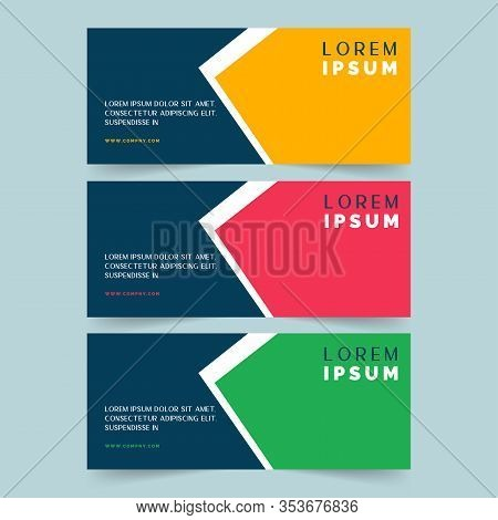 Blue Banner Design. Abstract Poster Vector. Facebook Cover. Green Banner. Gym Banner. Yellow And Blu