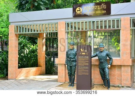 Bangkok, Th - Dec 13: Air Raid Shelter Facade At Dusit Zoo On December 13, 2016 In Khao Din Park, Ba
