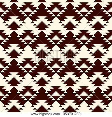Ethnic, Tribal Seamless Pattern. Native Americans Embroidery Textile Style Surface Print. Boho Chic