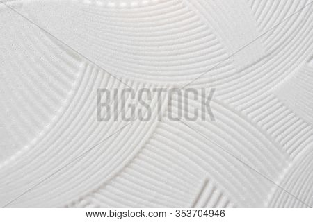 White Foam Tile Texture For Ceiling. Texture Of White Foam Tile For Ceiling Close-up