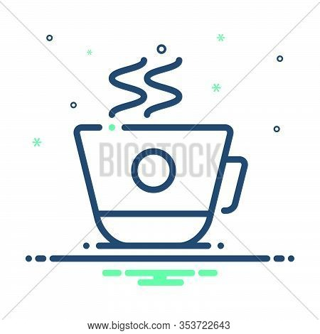 Mix Icon For Coffee-cup Coffee Cup Decaf  Refreshment Cappuccino