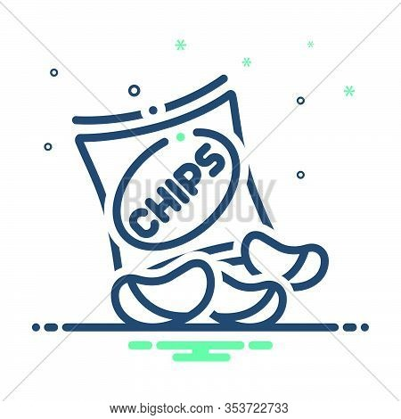Mix Icon For Potato-chips Potato Chips  Fried  Crisp Snacks
