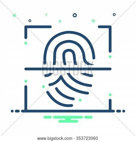 Mix Icon For Fingerprint-scanner Fingerprint Scanner  Authorization Security Biometric Identificatio