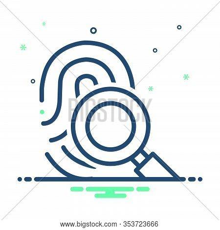 Mix Icon For Fingerprint-scan Fingerprint Scan Verification Identification