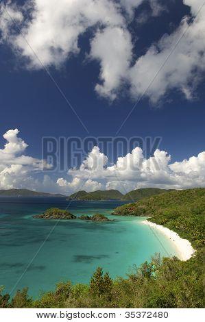 Virgin Islands Tropical Beach Overview