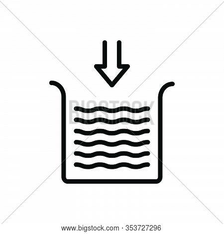 Black Line Icon For Below Underneath Beneath Bottom Underwater Level Arrow Water