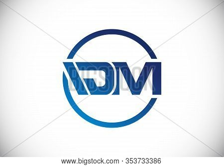 D  M Initial Letter Logo Design, Creative Modern Letters Vector Icon Logo Illustration.