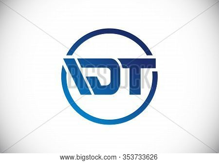 D  T Initial Letter Logo Design, Creative Modern Letters Vector Icon Logo Illustration.