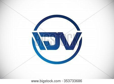 D  V Initial Letter Logo Design, Creative Modern Letters Vector Icon Logo Illustration.
